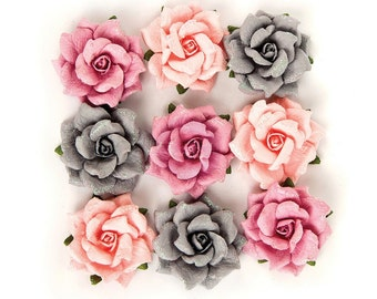 Prima Marketing Rose Quartz Flower Embellishement Thassos New Release In Stock Ready To Ship