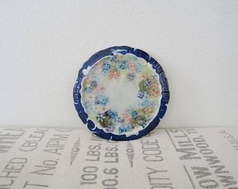 Vintage Ceramic Floral Painted Kitchen Trivet Hot Plate