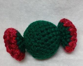 Green Catnip Candy w/ Red Trim