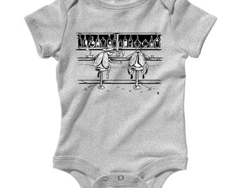 Baby Barflies Romper - Infant One Piece, Creeper - NB 6m 12m 18m 24m - Barfly, Beer Romper, Drink, Brewery, Funny - 3 Colors