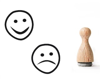 Tiny rubber stamp Smiley, Mini Rubber Stamp, Smiley rubber stamp, laugh rubber stamp, happy rubber stamp, teacher rubber stamp,