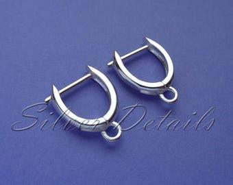 Original Shape Euro Lever-backs Ear Hooks Sterling Silver 925 Earring finding reference code L136S