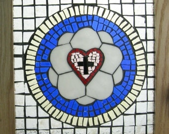 Luther's Rose Stained Glass Mosaic