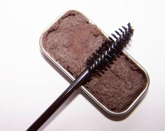 Mineral Mascara - Dark Brown Creamy Cake Mascara - Zero Waste Mascara - Mineral Makeup - Cake Eyeliner - Paraben-Free - Gift For Girl