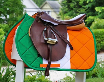 MADE TO ORDER - Irish Flag Saddle Pad