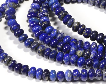Natural Lapis Lazuli 6.4x3.6mm Royal Blue Natural Lapis Lazuli Gemstone Beads Jewelry Making Supplies