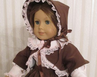 Victorian day dress for 18 inch doll.