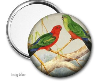Australian Bird pocket mirror, purse mirror
