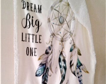 Dreamcatcher Blue Baby Blanket, Dream Big Little One Blanket