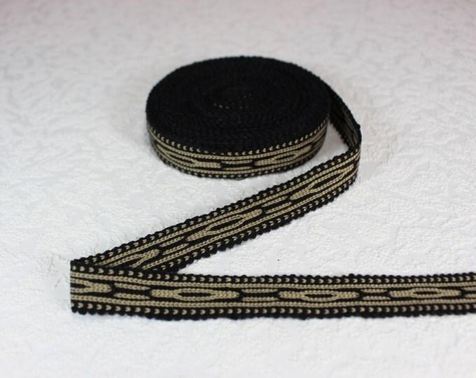 Woven Trim (6 yards), Woven Border, Cotton Ribbon, Grosgrain Ribbon, Dress Border, Border Trim, R167
