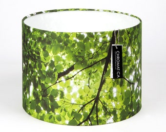 Lamp Shade - Imagine. Photography lampshade, nature, trees, green, NYC.