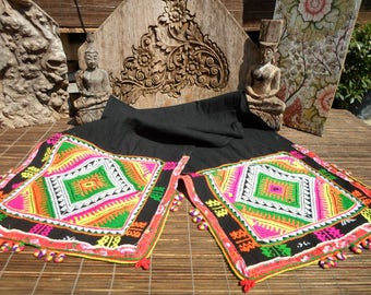 Black Hmong Folk Art Textile