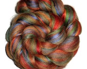 Festival Fall Luxury Blend of Bluefaced Leicester Silk and Bamboo Roving -  Spinning Box November - Spinning and Felting Fiber - EU SELLER
