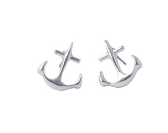 ANCHOR studs >> inspire << yourself to be the amazing awesome person you already are inside <<  nautical sorority ocean sail sailing navy