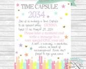Pastel Rainbow Time Capsule Sign - Digital File - Customizable