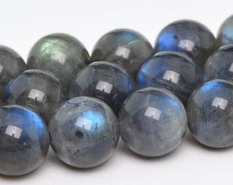 "10MM Gray Labradorite Beads Madagascar AAA Genuine Natural Gemstone Full Strand Round Loose Beads 15"" BULK LOT 1,3,5,10 and 50 (101175-860)"