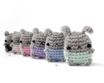 mini amigurumi bunny plush - pastel colours