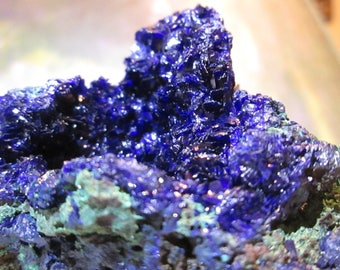 Azurite Malachite crystal minerals 147 gram vibrant blue crystal stone of inner vision, psychic powers
