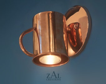 Sconce. Wall light. Copper mug, Moscow Mule, Vodka Buck.