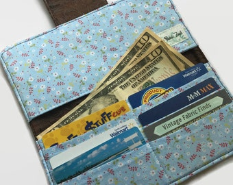 Checkbook Cover, Credit Card Holder, Women's Wallet, Faux Leather Wallet, Credit Card Wallet