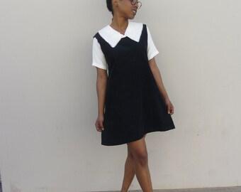 90's corduroy shift dress