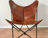 BKF Butterfly Chair - Premium Leather and Metal Frame