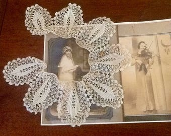 Vintage Lace Collar Or Round Doily Edging Trim