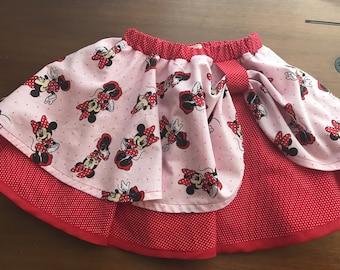 Minnie Mouse skirt/ Minnie Birthday skirt / Mickey skirt / Minnie Mouse Birthday Skirt / Disney Birthday Skirt / Minnie Mouse Birthday Party