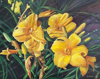 Tears of Heaven-Floral All Occasion Cards-Lilies Painting-Paper Products