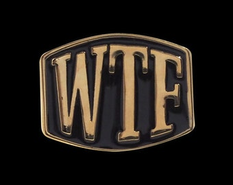 Solid Bronze WTF 3 Initial Ring - Free Re-Size/Shipping
