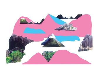 Place Myth (Pink and Blue Landscape)