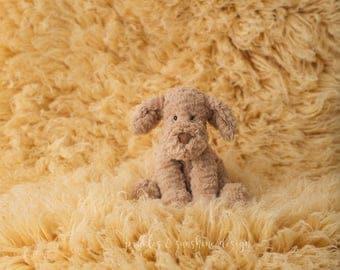 Our *LUX* 100% wool Flokati, Sunshine Yellow luxury wool flokati, Newborn Photography prop Greek Flokati, 3 x 5 foot prop layer