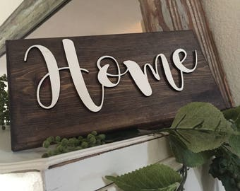 Handmade signs, wood words, farmhouse style sign, wall hanging sign, rustic wood sign, home sign, custom signs, NOT vinyl