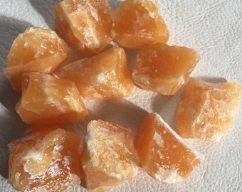 ON SALE 10 percent off Orange Calcite, crystal, mineral, gemstone,  metaphysical, new age