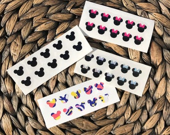 Disney Minnie - Mickey Mouse Inspired Small Nail Decals FREE SHIPPING