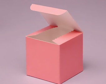 Pink Favor box, Small favor boxes, 3x3x3, pink wedding favor boxes, pink treat boxes, pink party boxes