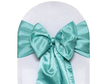 Chair Sashes Tiffany Satin  Wedding Chair Sashes Chair Bows Satin Pew Bows Party Bows Event Sold Individually