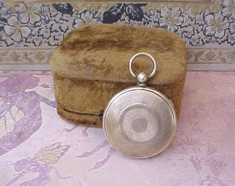 Large and Beautiful Early Victorian Locket With Tintype Photo-Looks Like a Pocket Watch