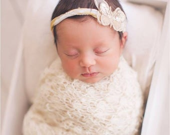 crochet newborn wrap set