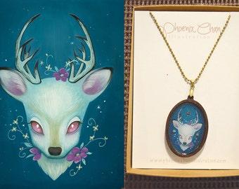 Deer Resin Pendant Necklace