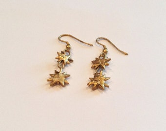 Spiked Bamboo Drop Down Earrings