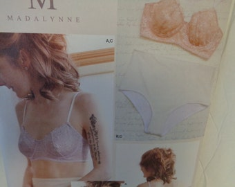 Simplicity 8229 - Sizes 32a-42dd- Sewing Pattern New & Unused Misses Soft Cup Bra Panties Stretch Undergarment Full Panty