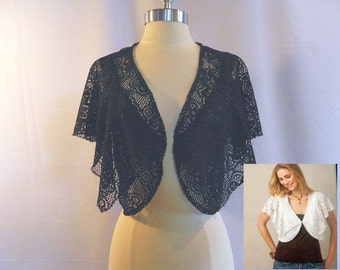Black Lace Vest - Shrug - Shawl