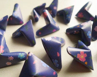 3D Origami Hearts - Colorful Floral Paper Hearts/Party Supply/Home Decor/Gift Fillers/Embellishment
