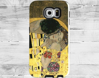 "Samsung Galaxy S5, S6, S7 Case, Gustav Klimt ""The Kiss"". Painting. Gold and Ornaments."