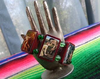 Pan Wooden Devotional Bracelet. Pagan Polytheist Devotional Jewelry.