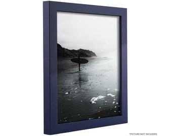 "Craig Frames, 16x20 Inch Navy Blue Picture Frame, .75"" Wide, Bauhaus (91601620)"