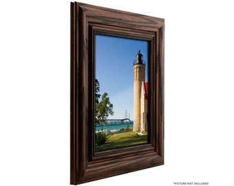 "Craig Frames, 8x10 Inch Dark Walnut Picture Frame, Colonial Ornate 2.25"" Wide (151774831500810)"