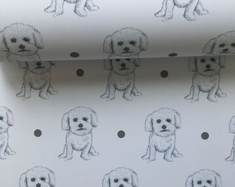 Bichon frise, wrapping paper, gift wrap, for dog owners, for bichon frise owners, for dog lovers, read description
