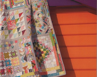 Long Time Gone - Jen Kingwell Quilt Pattern - Scrappy Sampler Quilt